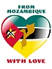 Vector clipart: from Mozambique with love
