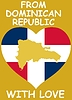 Vector clipart: from Dominican Republic with love
