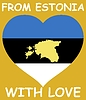 Vector clipart: from Estonia with love
