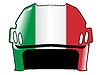 Vector clipart: hockey helmet in colors of Italy