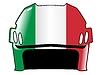 Векторный клипарт: хоккейный шлем в цветах Италии