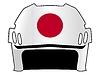 Векторный клипарт: хоккейный шлем в цвет Японии