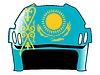 Векторный клипарт: хоккейный шлем в цветах Казахстан