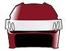 Векторный клипарт: хоккейный шлем в цветах Латвии