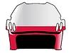Векторный клипарт: хоккейный шлем в цветах Польши