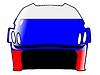 Векторный клипарт: хоккейный шлем в цвета России