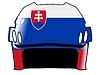 Векторный клипарт: хоккейный шлем в цвета Словакии