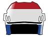 Векторный клипарт: хоккейный шлем в цвет Нидерландов