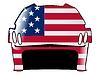 Векторный клипарт: хоккейный шлем в цветах США