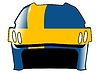 Vector clipart: hockey helmet in colors of Sweden