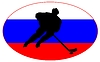 Векторный клипарт: Хоккей цвета России