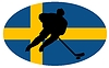 Векторный клипарт: Хоккей цвета Швеции