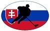 Векторный клипарт: Хоккей цвета Словакии