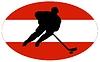 Векторный клипарт: Хоккей цветов Австрии