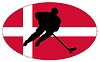 Vector clipart: Hockey colours of Denmark