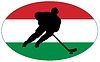Vector clipart: Hockey colours of Hungary