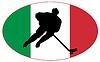 Векторный клипарт: Хоккей цвета Италии