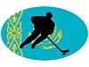 Векторный клипарт: Хоккей цветов Казахстан