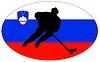 Vector clipart: Hockey colours of Slovenia