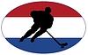 Векторный клипарт: Хоккей цветов Нидерланды