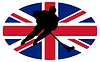 Vector clipart: Hockey colours of Great Britain