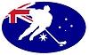 Векторный клипарт: Хоккей цвета Австралии