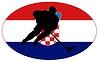 Векторный клипарт: Хоккей цвета Хорватии