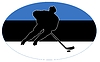 Vector clipart: Hockey colours of Estonia