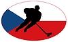 Векторный клипарт: Хоккей цветов Чехия