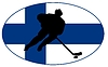 Vector clipart: Hockey colours of Finland