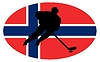 Vector clipart: Hockey colours of Norway
