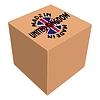 Векторный клипарт: сделано в Великобритании