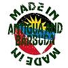 Векторный клипарт: этикетки Сделано в Антигуа и Барбуда
