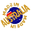 Vector clipart: label Made in Australia