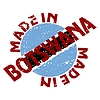 Vector clipart: label Made in Botswana
