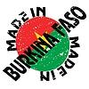 Vector clipart: label Made in Burkina Faso
