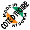Vector clipart: label Made in Cote d`Ivoire