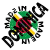 Vector clipart: label Made in Dominica