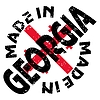 Vector clipart: label Made in Georgia