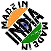 Vector clipart: label Made in India