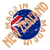 Vector clipart: label Made in New Zealand