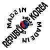 Vector clipart: label Made in South Korea