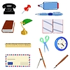 Vector clipart: Set of different office objects