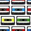 Abstrakte nahtlose Hintergrund mit Audio-Kassette