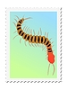 Vector clipart: stamp with centipede