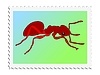 Vector clipart: stamp with ant