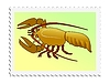 Vector clipart: stamp with crayfish
