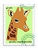 Vector clipart: stamp with giraffe