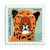 Vector clipart: stamp with leopard