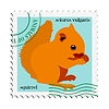 Vector clipart: stamp with squirrel